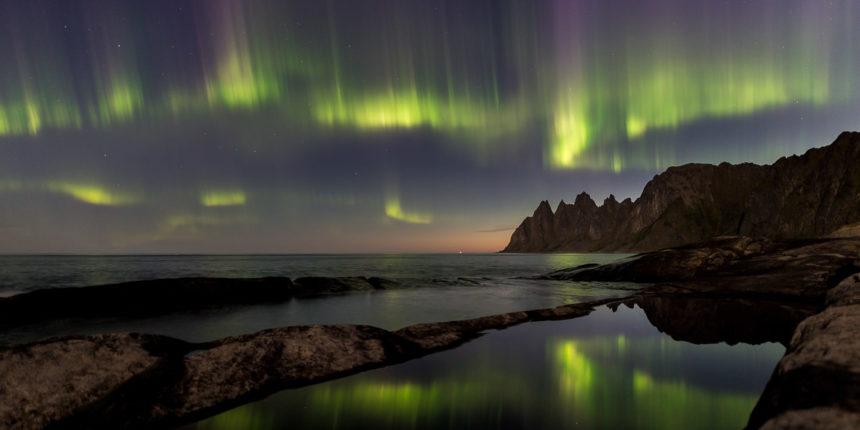 Nordlichter Senja Norwegen