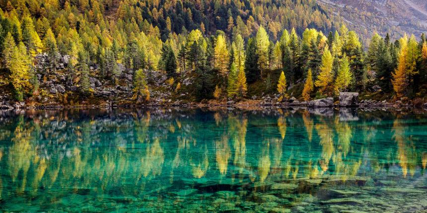 Lago di Saoseo im Herbst